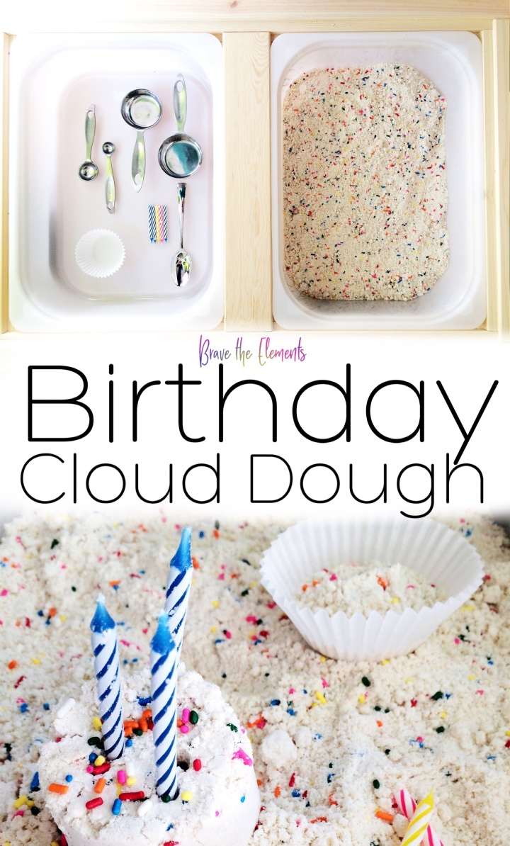Birthday cloud dough